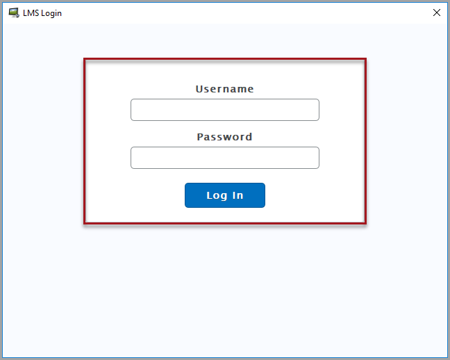 D2L login screen