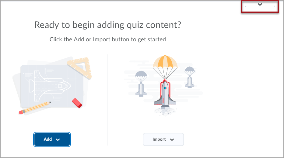 The New Quiz Building Experience without questions