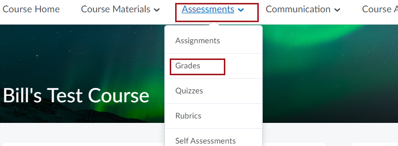 Grade Drop down selection image